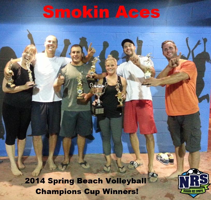 2014 Spring Beach vball Cup Winners
