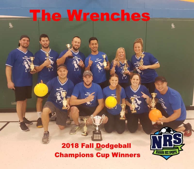 NRS 2018 Fall Dodgeball Champions Cup Winners The Wrenches