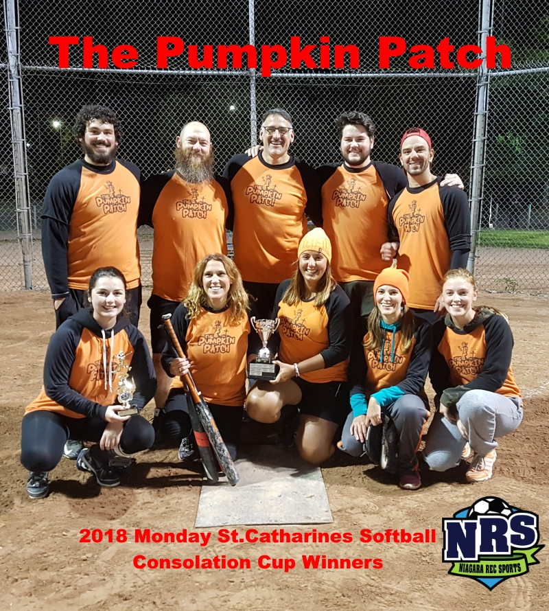 NRS 2018 Monday St.Catharines Softball Consolation Cup Winners The Pumpkin Patch