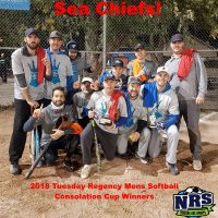 NRD 2018 Tuesday Regency Mens Softball Consolation Cup WInners Sea Chiefs!