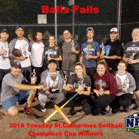 NRS Tuesday St.Catharines Softball Champions Balls Falls