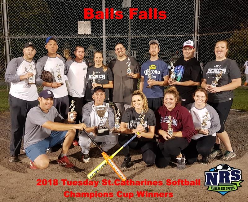 NRS Tuesday St.Catharines Softball Champions Balls Falls