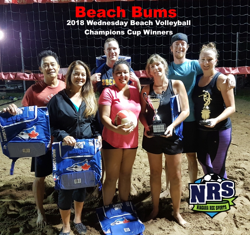 NRS 2018 Wednesday Volleyball Champions Cup Winners Beach Bums