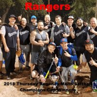 NRS 2018 Thursday Regency Mens Softball Champions Cup WInners Rangers