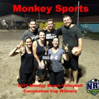 2021 NRS Monday Beach Volleyball Consolation Cup Winners Monkey Sports