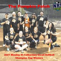2021 NRS Monday St.Catharines Co-ed Softball Champion Cup Winners The Pumpkin Patch