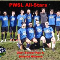 2021 NRS Soccer Rec A Division Winners PWSL All-Stars