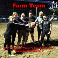 NRS 2021 Thursday Womens Volleyball Champion Cup Winners Farm Team