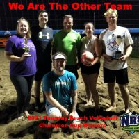 2021 NRS Tuesday Beach Volleyball Champion Cup Winners We Are The Other Team