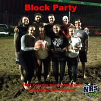 2021 NRS Tuesday Beach Volleyball Consolation Cup Winners Block Party