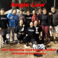 2021 NRS Wednesday Coed Regency Softball Consolation Cup Winners Angle Law