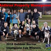 NRS 2018 Soccer Champions Cup Winners Anthrax Property Management