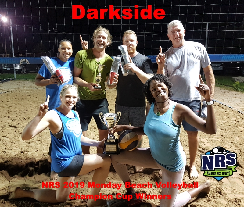 NRS 2019 Monday Beach Volleyball Champion Cup Winners