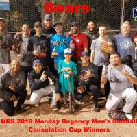 NRS 2019 Monday Regency Men's Softball Consolation Cup Winners