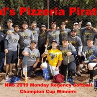 NRS 2019 Monday Regency Softball Champion Cup Winners