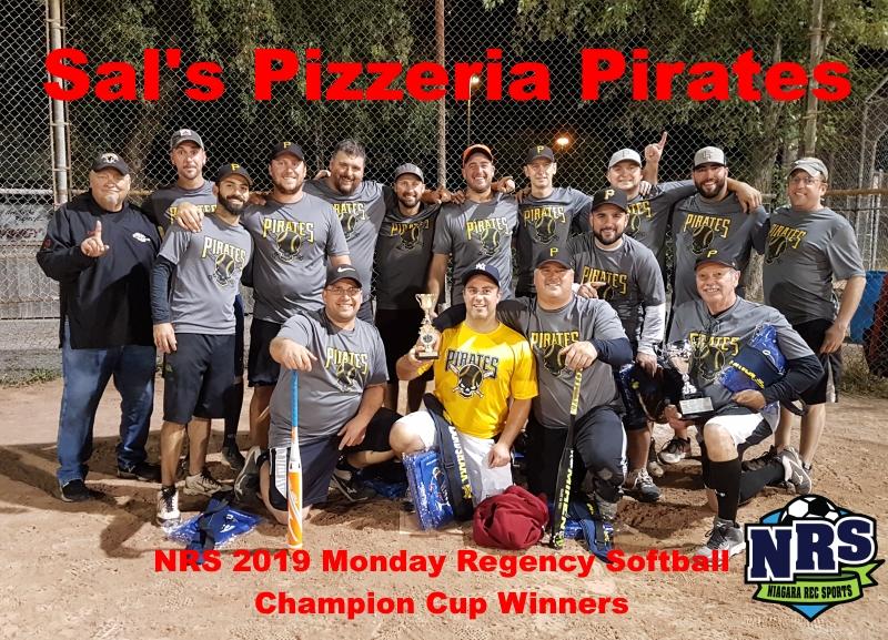 NRS 2019 Monday Regency Softball Champion Cup Winners