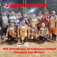 NRS 2019 Monday St.Catharines Softball Champion Cup Winners
