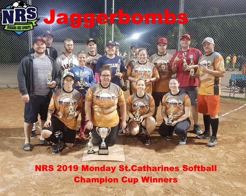 NRS 2019 Monday St.Catharines Softball Champion Cup Winners