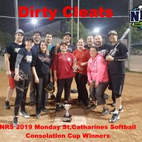 NRS 2019 Monday St.Catharines Softball Consolation Cup Winners