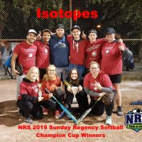 NRS 2019 Sunday Regency Softball Champion Cup Winners