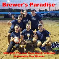 NRS 2019 Thursday Coed Beach Volleyball Consolation Cup Winners Brewers Paradise