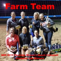 NRS 2019 Thursday Women's Beach Volleyball Champion Cup WInners Farm Team