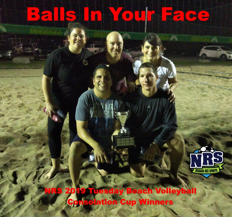 NRS 2019 Tuesday Beach Volleyball Consolation Cup Winners
