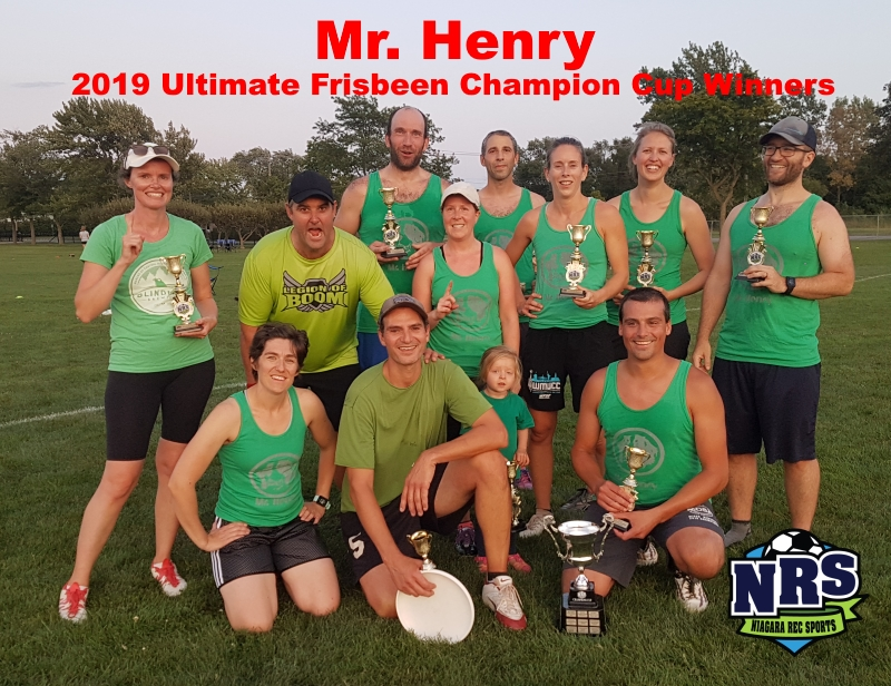 2019 Ultimate Frisbee Champions Cup Winners Mr. Henry