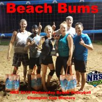 NRS 2019 Wednesday Beach Volleyball Champion Cup Winners Beach Bums