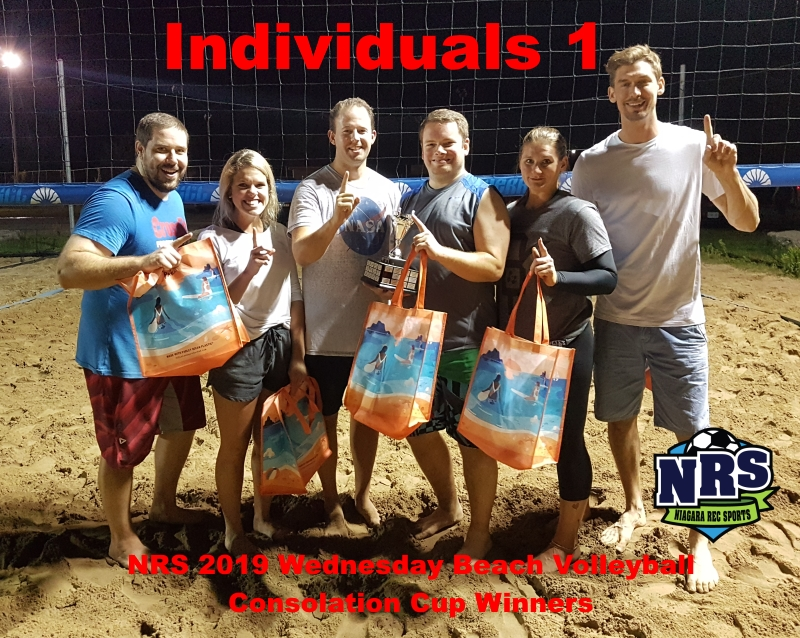 NRS 2019 Wednesday Beach Volleyball Consolation Cup Winners Individuals 1