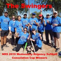 NRS 2019 Wednesday Regency Softball Consolation Cup Winners
