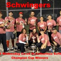 NRS 2019 Wednesday St.Catharines Coed Softball Champion Cup Winners Schwingers