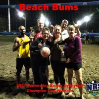 NRS 2021 Wednesday Volleyball Champion Cup Winners Beach Bums