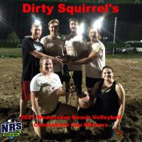 NRS 2021 Wednesday Volleyball Consolation Cup Winners Dirty Squirrel's