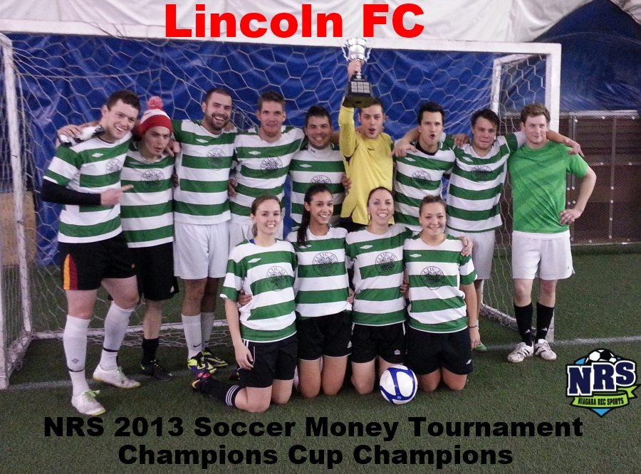 Niagara Rec Sports 2013 Indoor Soccer Tournament Champions