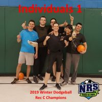 NRS 2019 Winter Dodgeball Rec C Winners Individuals 1