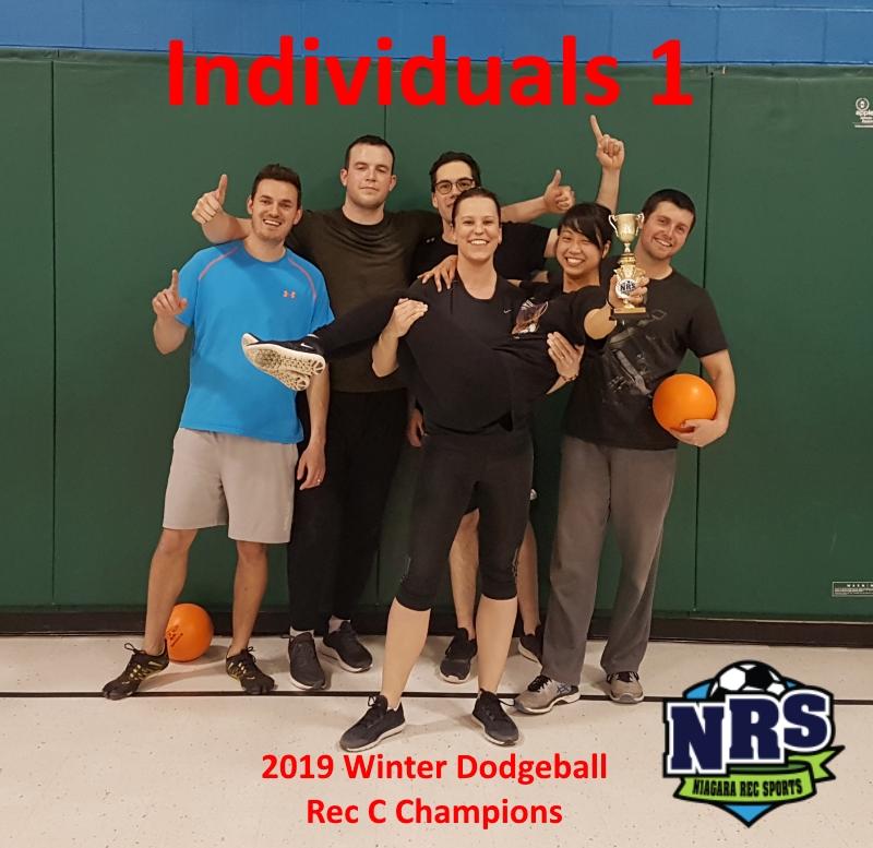 NRS 2019 Winter Dodgeball Rec C Winners Individuals 1