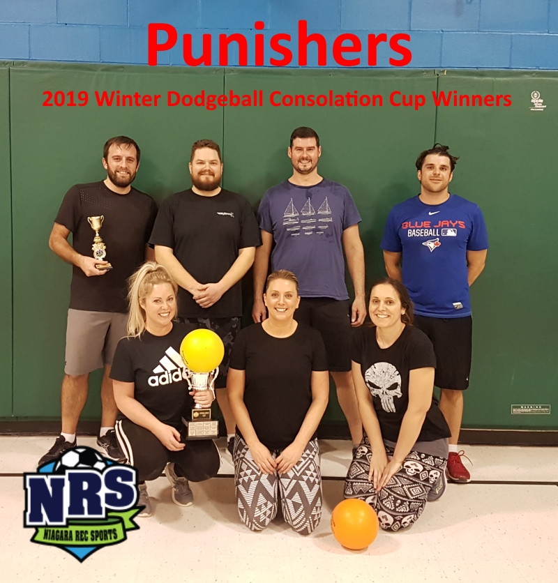 NRS 2019 Winter Dodgeball Consolation Cup Winners Punishers