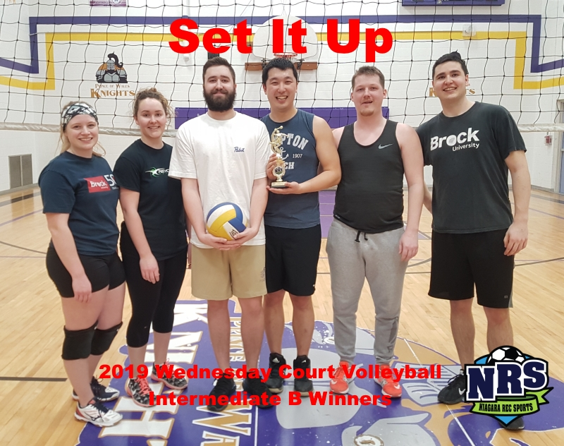 NRS 2019 Wednesday Court Volleyball Intermediate B Division Winners Set It Up