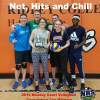 NRS 2019 Monday Court Volleyball Consolation Cup Winners Net, Hits and Chill