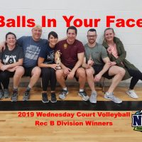 NRS 2019 Wednesday Court Volleyball Rec B Division Winners Balls In Your Face