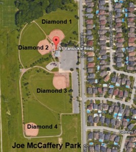 Niagara Rec Sports Joe McCaferey Park Layout
