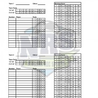 Niagara Rec Sports Basketball Score Sheet