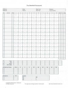 Softball Score Sheet