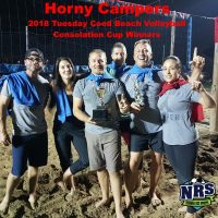 NRS 2018 Tuesday Beach Volleyball Consolation Cup Winners Horny Campers