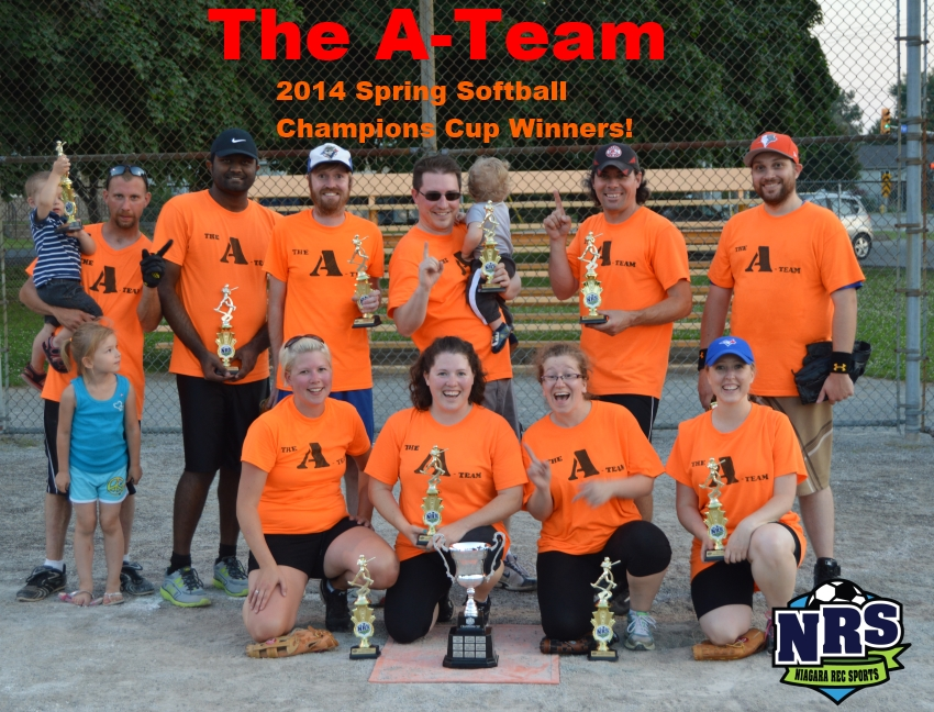 2014 Spring Softball Cup Winners