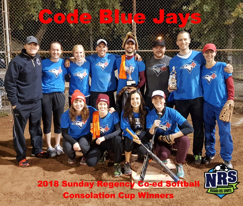 NRS 2018 Sunday Regency Coed Softball Consolation Cup Winners Code Blue Jays