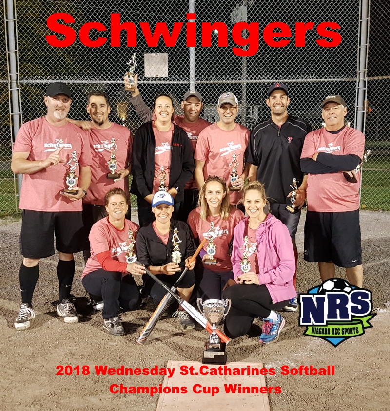 NRS 2018 Wednesday St.Catharines Softball Champions Cup Winners Schwingers