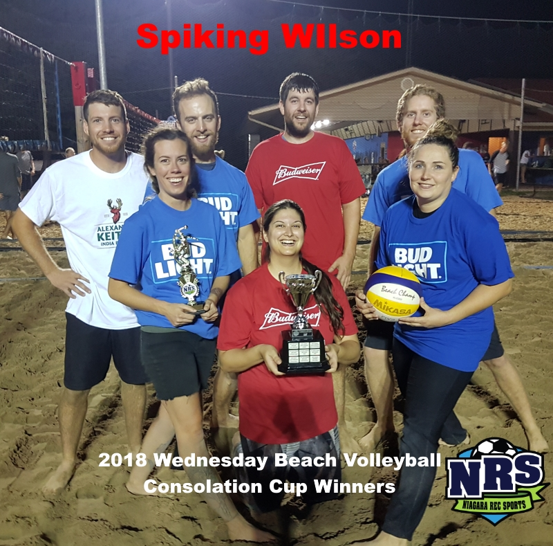 NRS 2018 Wednesday Beach Volleyball Consolation Cup Spiking Wilson