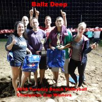 NRS 2018 tues coed v ball winners